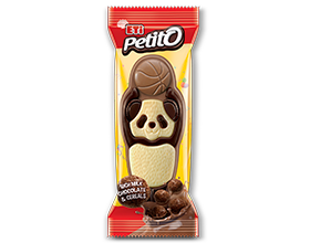 Petito Basketball Milk, White & Dark chocolate with cocoa flakes